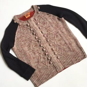 Tory Burch Knit Sweater Snap Up Cardigan